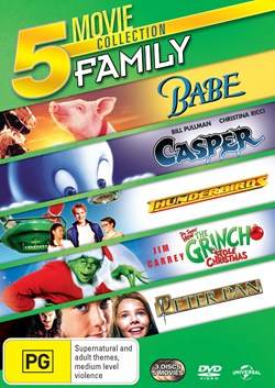 Babe/Casper/Thunderbirds/The Grinch/Peter Pan [DVD]