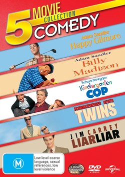 Happy Gilmore/Billy Madison/Kindergarten Cop/Twins/Liar Liar [DVD]