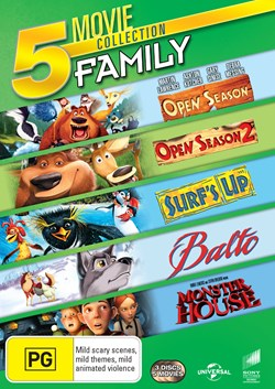 Open Season/Open Season 2/Surf's Up/Balto/Monster House [DVD]