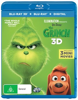 The Grinch - 2019 Release (3D Edition with 2D Edition + Digital Download) [Blu-ray]