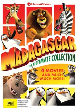 Madagascar and Penguins of Madagascar: 4-movie Collection (Box Set) [DVD]