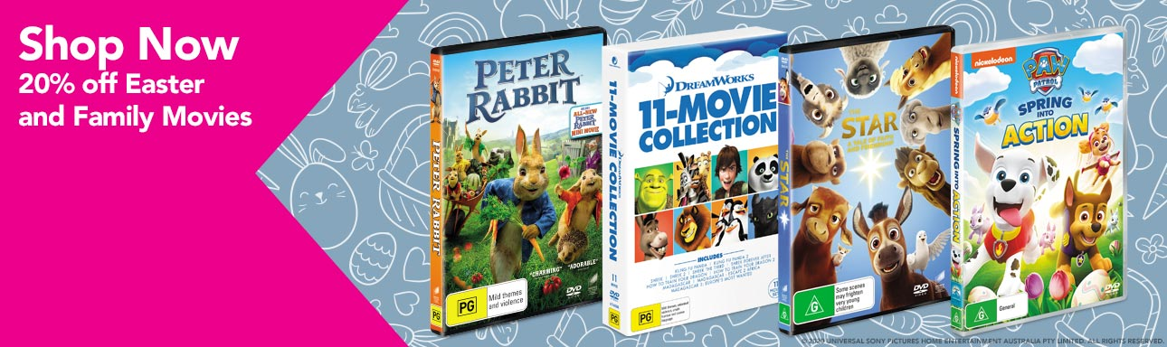 20% Off Family and Easter Movies