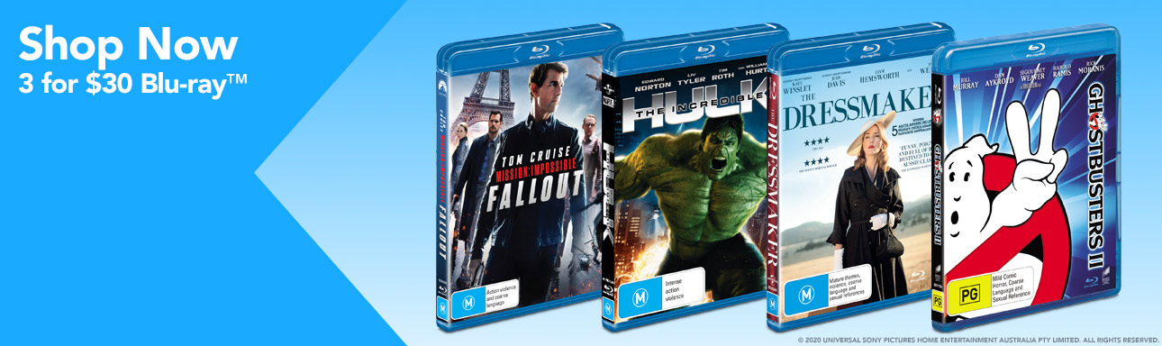 3 for $30 Blu-ray